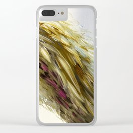 Once Upon A Wing of Yellow Clear iPhone Case