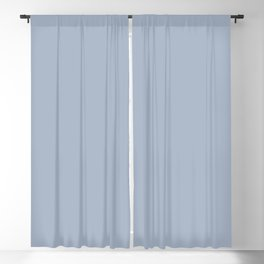 Rope Swag ~ Light Blue Gray Blackout Curtain