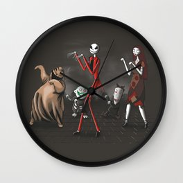 Thriller before Christmas Wall Clock