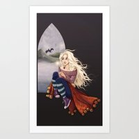 luna lovegood Art Prints featuring Luna Lovegood by Laure Lilyvale