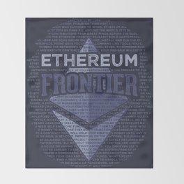 Ethereum Frontier Grunge original on dark blue Throw Blanket