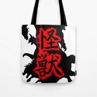 kaiju Tote Bags featuring Kaiju Japan by PCRK