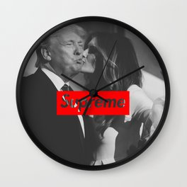 SUPREME DONALD AND MELANIA TRUMP Wall Clock