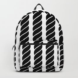 Black and white rope pattern Backpack