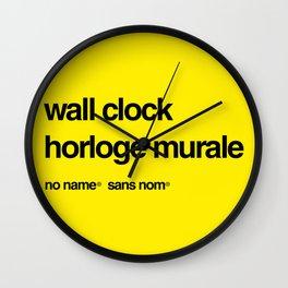 No Name/Sans Nom Wall Clock