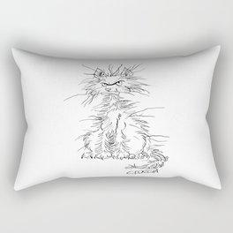 Disgruntled Cat Rectangular Pillow