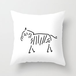 zebra Africa Throw Pillow