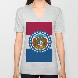 Flag of Missouri Unisex V-Neck