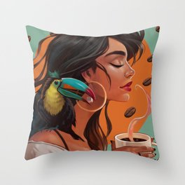 Americano Throw Pillow