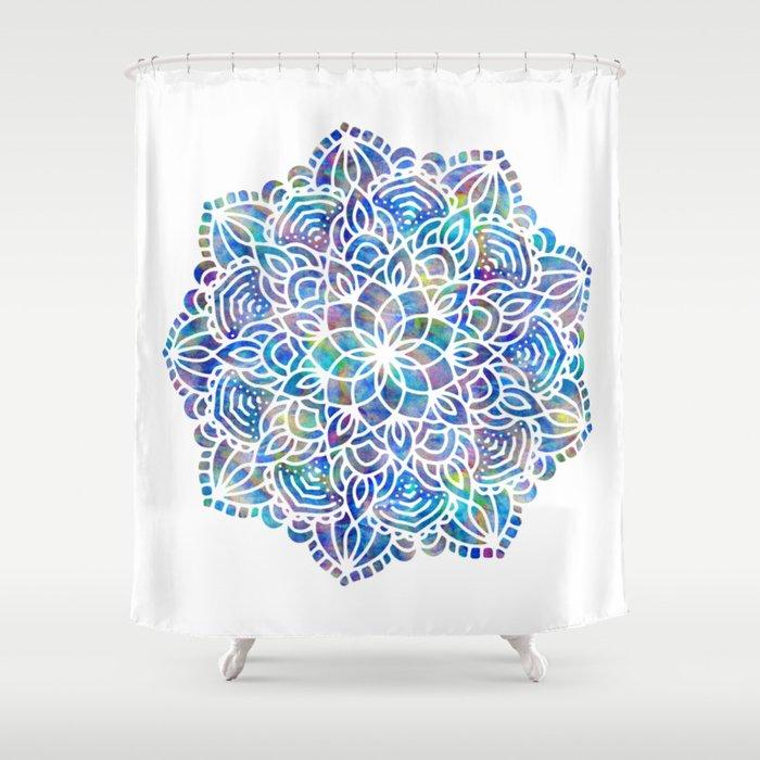 Mandala Little Mermaid Ocean Blue Shower Curtain By Naturemagick