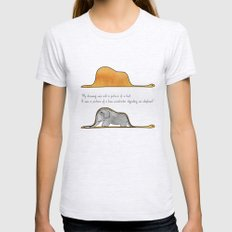 The Little Prince, a hat or a boa constrictor? Ash Grey Womens Fitted Tee SMALL