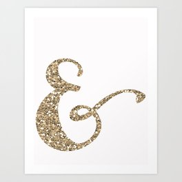Glitter Ampersand Art Print