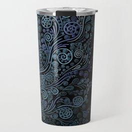 3D ornaments, blue Travel Mug
