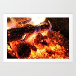 Campfires and Hot Cocoa Art Print