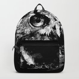 owl perfect black white Backpack