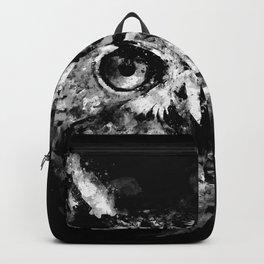 owl perfect black white Backpack