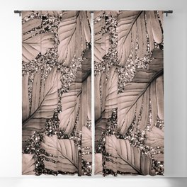 Banana Leaves Glitter Glam #3 #shiny #tropical #decor #art #society6 Blackout Curtain