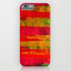 FIERCE - Intense Wild Nature Masculine Stripes Abstract Watercolor Painting Design Urban Fine Art iPhone 6s Slim Case