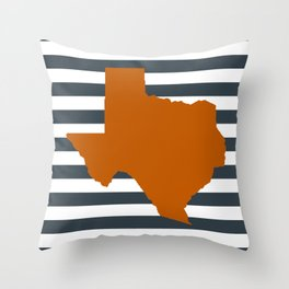 Texas orange and white university texans longhorns college football sports Throw Pillow