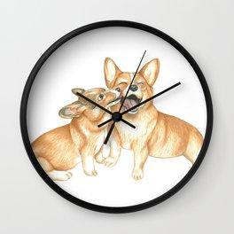 Corgi and Bess Wall Clock