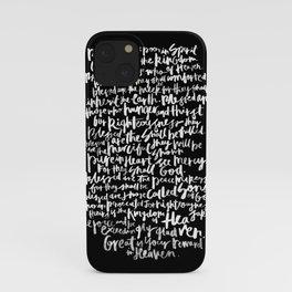 Matthew 5: The Beatitudes iPhone Case