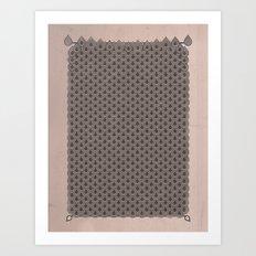 眞銀용갑옷 - Mithril DRAGON SCALES ARMOR CAPE Art Print