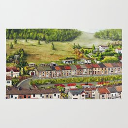Cwm Parc, Treorchy, South Wales Valleys Rug