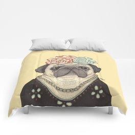 Frida Pug Kahlo Comforters