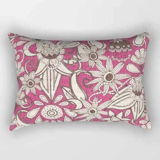 sarilmak pink brown Rectangular Pillow