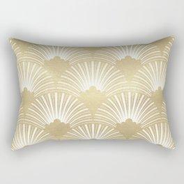 Gold foil look Art-Deco pattern Rectangular Pillow