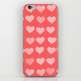 Cute Hearts iPhone Skin