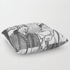 Flapper Girls in Paris Floor Pillow