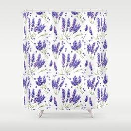 Lavender Purple Dream Watercolor Pattern Shower Curtain