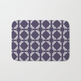 Meteorite Purple Arts and Crafts Butterflies Bath Mat