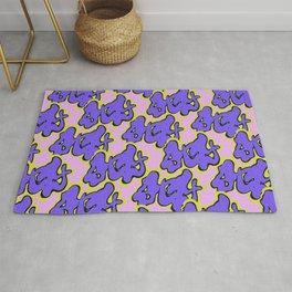 Stay Graffiti Pattern - Purple Groove Rug