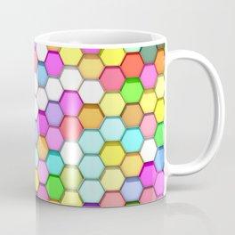 Colored Hexa Pattern Coffee Mug