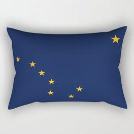 Alaska State Flag, Authentic version Rectangular Pillow