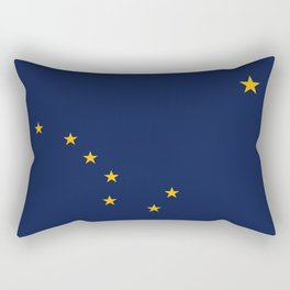 Alaska State Flag, Authentic version Rectangular Pillow