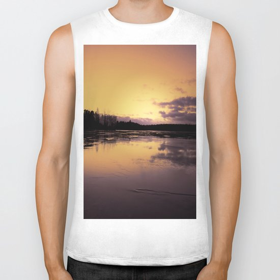 The Radiant Beauty of Nature Biker Tank