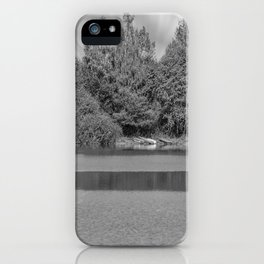 Boats at a lake iPhone Case