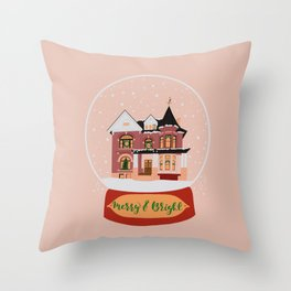 Christmas in Saginaw- Lee Mansion Throw Pillow