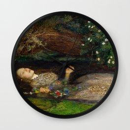 Ophelia, John Everett Millais Wall Clock