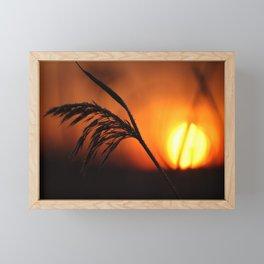 Good Morning Sun Winter Scene #decor #society6 Framed Mini Art Print