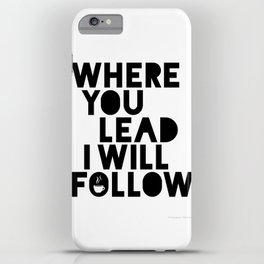 Gilmore Girls Where You Lead Theme Song iPhone Case