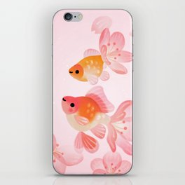 Cherry blossom goldfish iPhone Skin