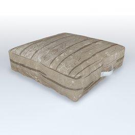 Nautical Driftwood Wood Grain Pattern Outdoor Floor Cushion