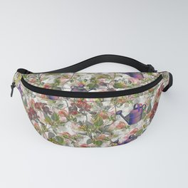 Floral with Watering Can Fanny Pack