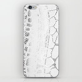 White Snake Skin iPhone Skin