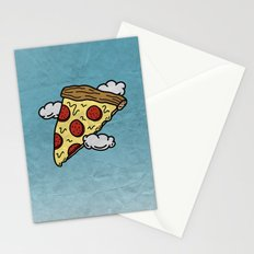 Floating Pizza Stationery Cards