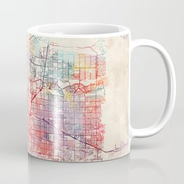 Albuquerque map New Mexico painting square Coffee Mug